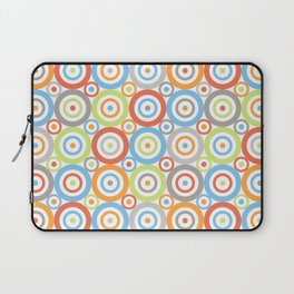 Abstract Circles Repeat Pattern Color Mix & Greys Laptop Sleeve