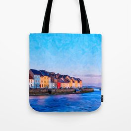 End Of A Beautiful Day In Galway Ireland On The Seaside Tote Bag