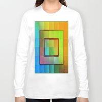 aperture Long Sleeve T-shirts featuring Aperture #3 Vibrant Fractal Pleat Texture Design by CAP Artwork & Design