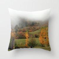 fog Throw Pillows featuring FOG by Avigur