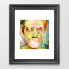 bubble gum  girl Framed Art Print