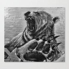Bear Art Canvas Print