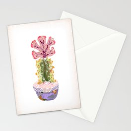 Papercraft Cactus in Pink Stationery Cards