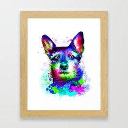 Terrier digital art Framed Art Print