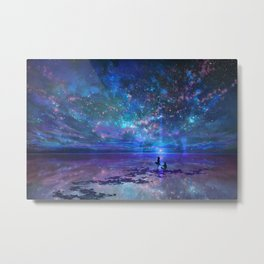 Ocean, Stars, Sky, and You Metal Print