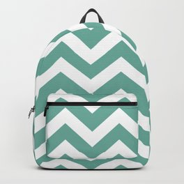 Green Sheen - grey color - Zigzag Chevron Pattern Backpack