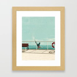 Man Overboard Framed Art Print