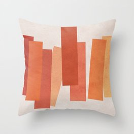 Warm Minimalism • Expressionism • Geometric abstraction • Modern abstract art • Colorblock Throw Pillow