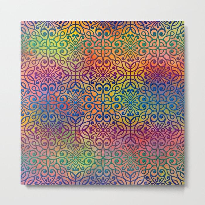 DP050-1 Colorful Moroccan pattern Metal Print