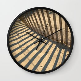 Beach Shadows Wall Clock