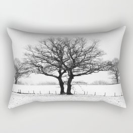 Three Winter Oaks Rectangular Pillow