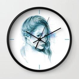 Look away, look away... | blue Wall Clock