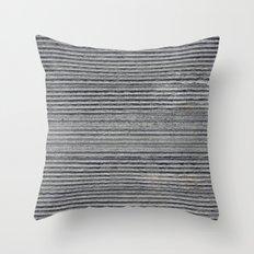 Concrete Cutting Parallel Throw Pillow