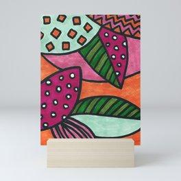 Funky Leaves Mini Art Print