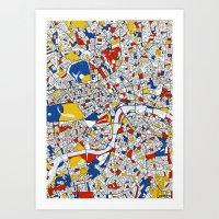 mondrian Art Prints featuring London Mondrian by Mondrian Maps
