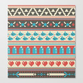 Fair-Hyle Knit Canvas Print
