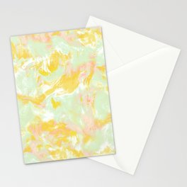 Marble Mist Yellow Green Pink Stationery Cards