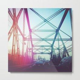 Light-leaked bridge Metal Print