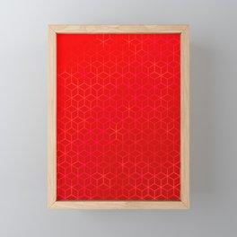 Lush Red Hexas Framed Mini Art Print