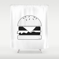 burger Shower Curtains featuring Burger  by Keep It Simple