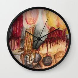 Gothic Library Wall Clock