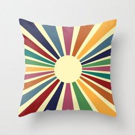Sun Retro Art II Throw Pillow