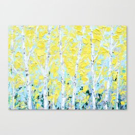 New England Paper Birch Canvas Print