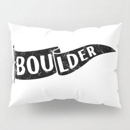 Boulder Colorado Pennant Flag // University College Dorm Room Graphic Design Decor Black & White Pillow Sham