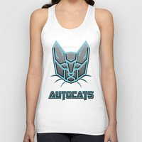 transformers Tank Tops featuring Autocats Transformers by Enrique Valles