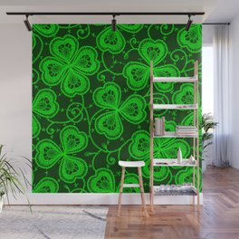 Clover Lace Pattern Wall Mural
