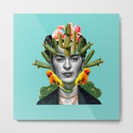 frida cactus Metal Print