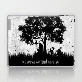 We're All Mad Here Alice In Wonderland Silhouette Art Laptop & iPad Skin