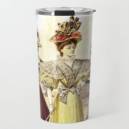 Victorian Ladies Vintage Design Travel Mug