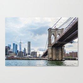 Brooklyn Bridge and Skyline of New York Canvas Print