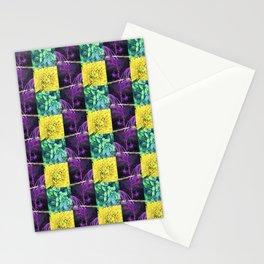 Mardi Gras Gingham Stationery Cards
