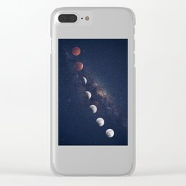 phases of the moon Clear iPhone Case