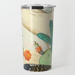 Monograph of the Picides Alfred Malherbe 1861 Vintage Bird Cactus Flower Illustration Travel Mug