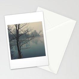 Fog on Cedar Lake Stationery Cards