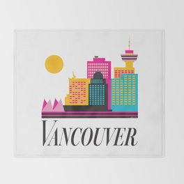 Vancouver Coal Harbour Throw Blanket