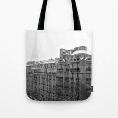 Paris Snow Tote Bag