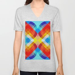 Busama - Colorful Abstract Art Unisex V-Neck