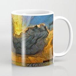Sunset on island Coffee Mug