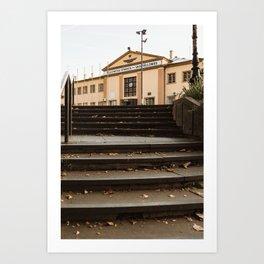 Train station in Subotica, Serbia / Fall / Autumn Art Print