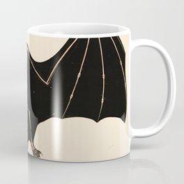 Vintage French zoological board - Bat skeleton Coffee Mug