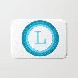 Blue letter L Bath Mat