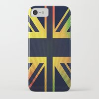 british flag iPhone & iPod Cases featuring RASTA BRITISH FLAG by shannon's art space
