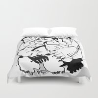 drunk Duvet Covers featuring Drunk by 5wingerone