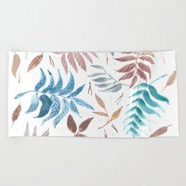 The forest floor Beach Towel