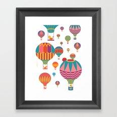 Air Balloons Framed Art Print