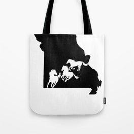 Missouri Fox Trotter Horse Lover Black Tote Bag